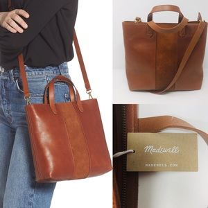 MADEWELL SMALL TRANSPORT CROSSBODY TOTE BAG
